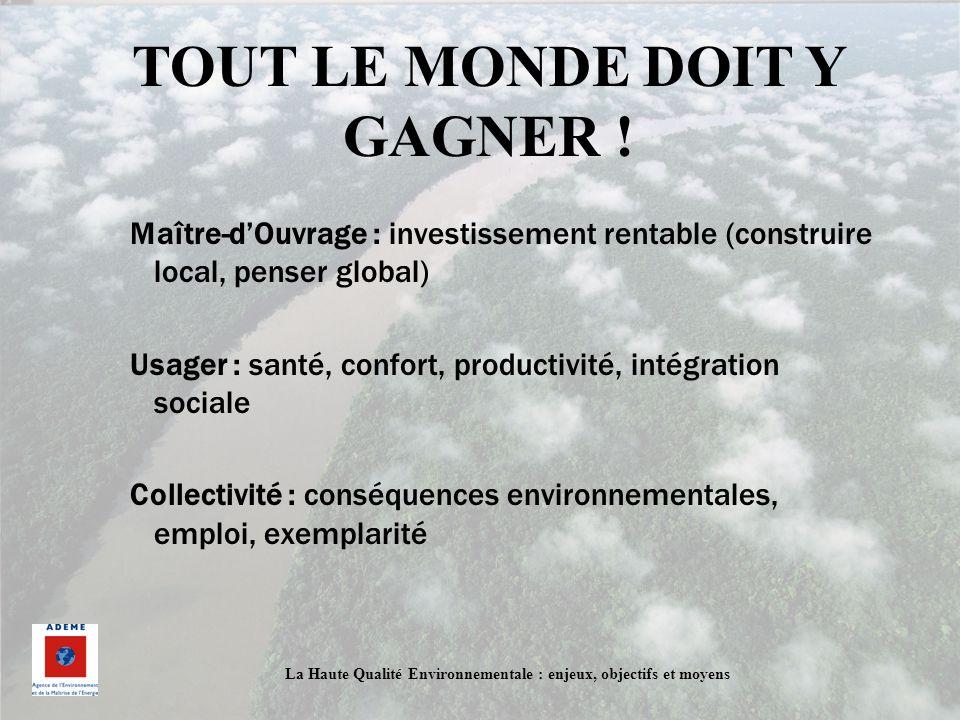 TOUT LE MONDE DOIT Y GAGNER !