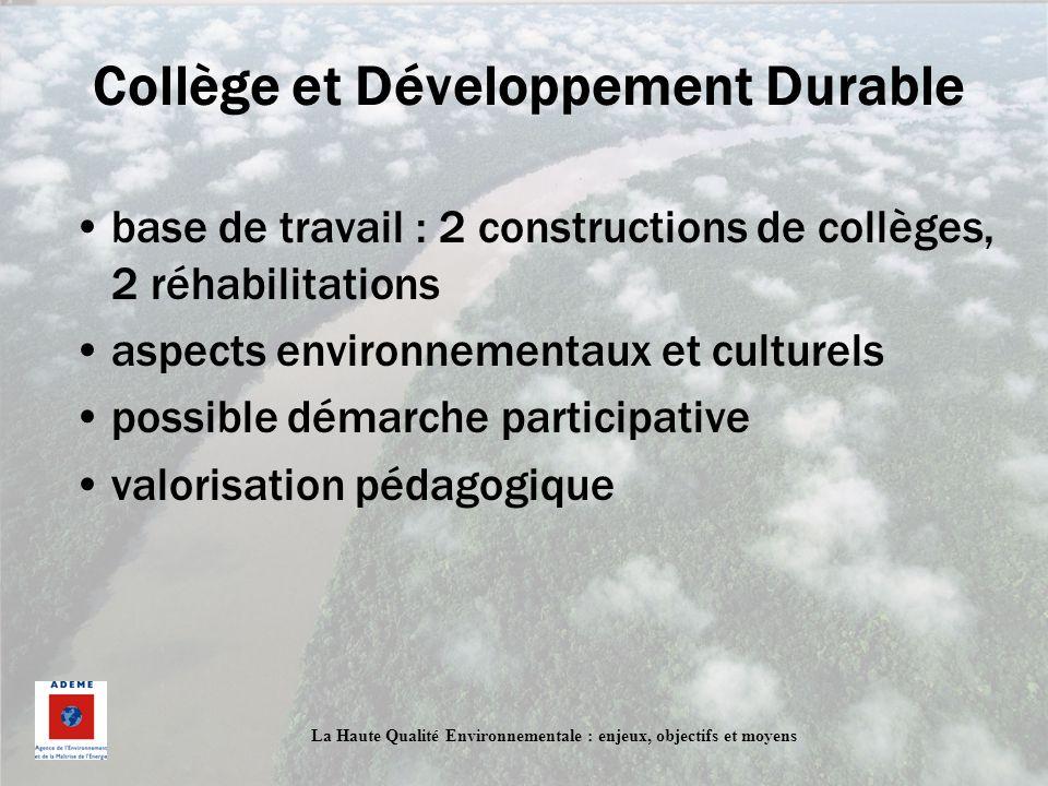 Collège et Développement Durable