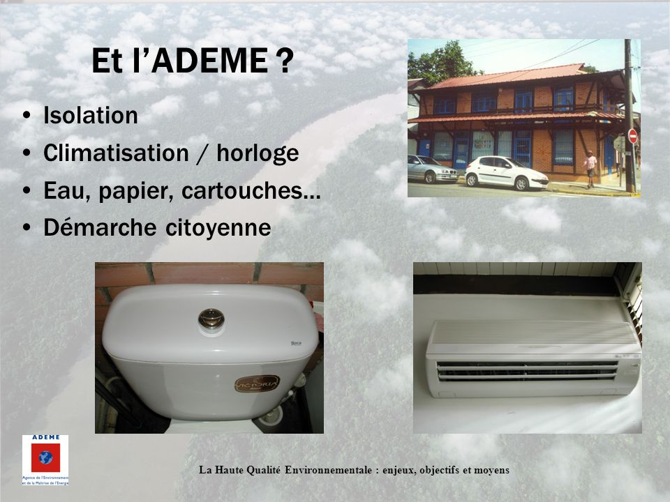 Et l'ADEME Isolation Climatisation / horloge