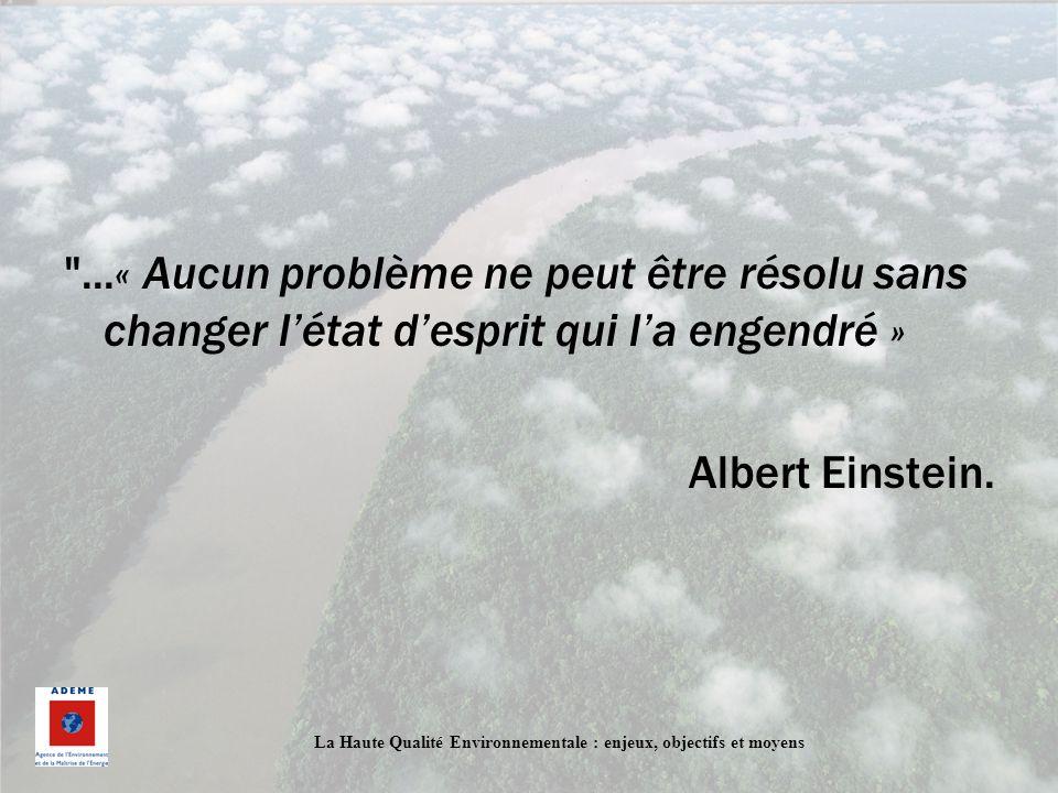 ...« Aucun problème ne peut être résolu sans changer l'état d'esprit qui l'a engendré »
