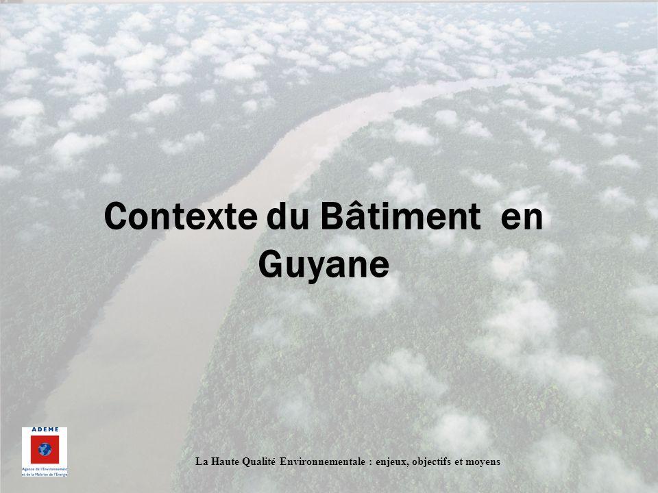 Contexte du Bâtiment en Guyane