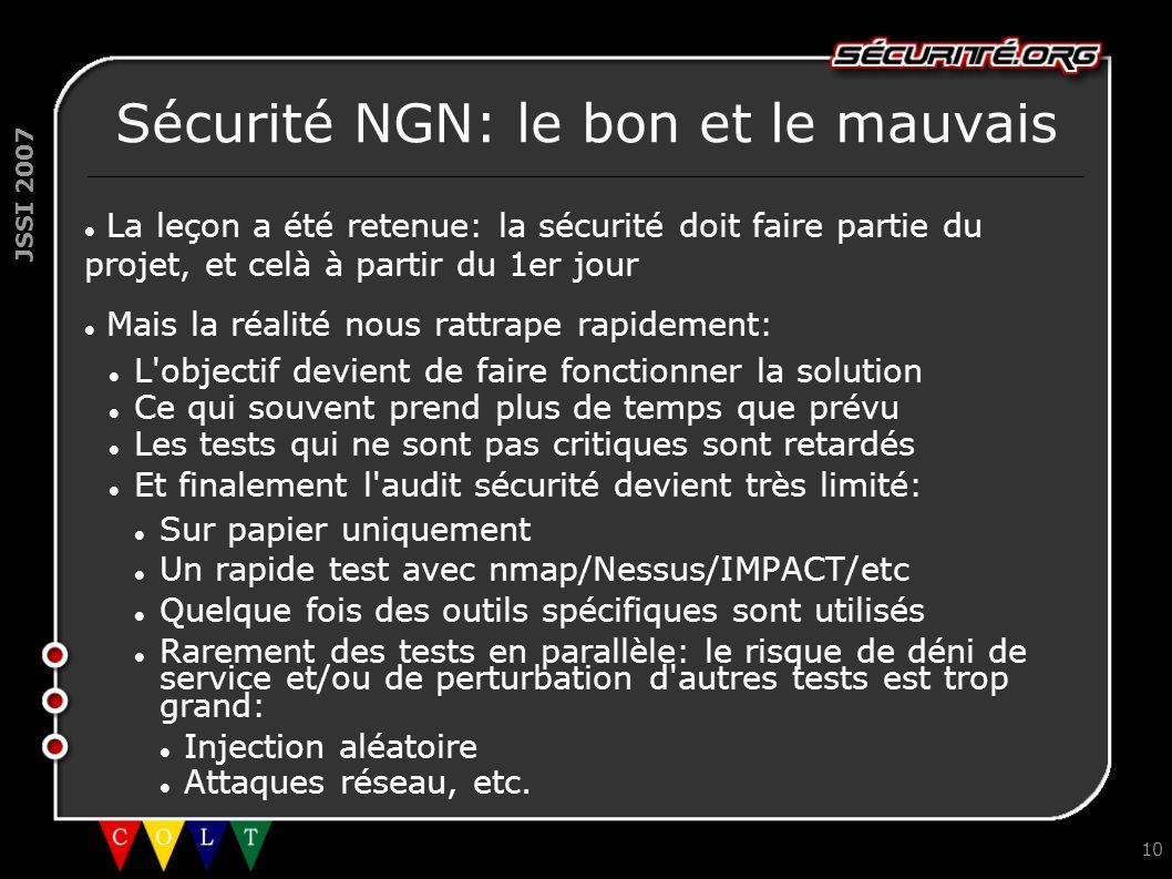 Sécurité NGN: le bon et le mauvais