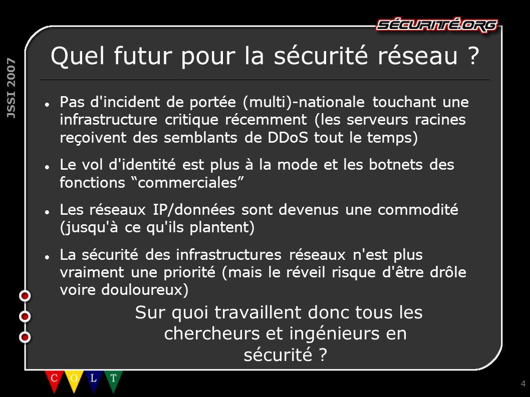 Quel futur pour la sécurité réseau