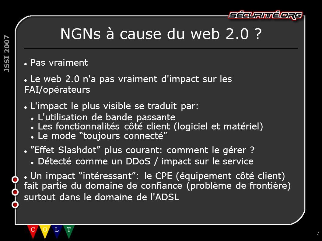 NGNs à cause du web 2.0 Pas vraiment