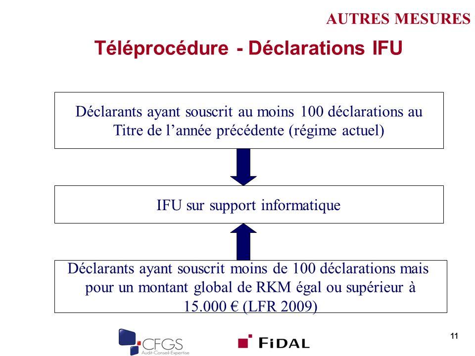 Téléprocédure - Déclarations IFU