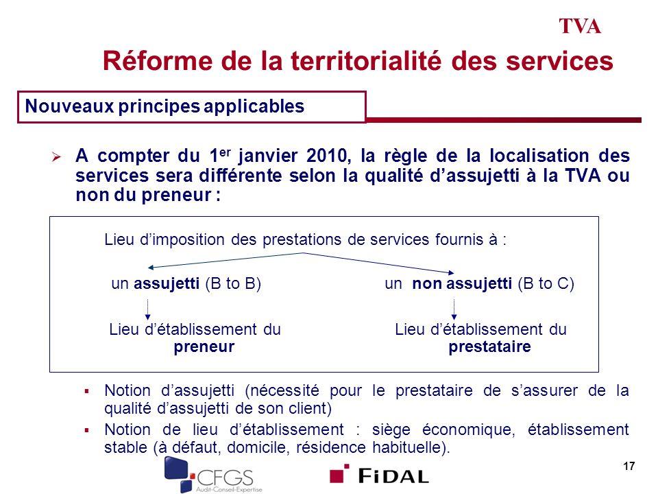 Réforme de la territorialité des services