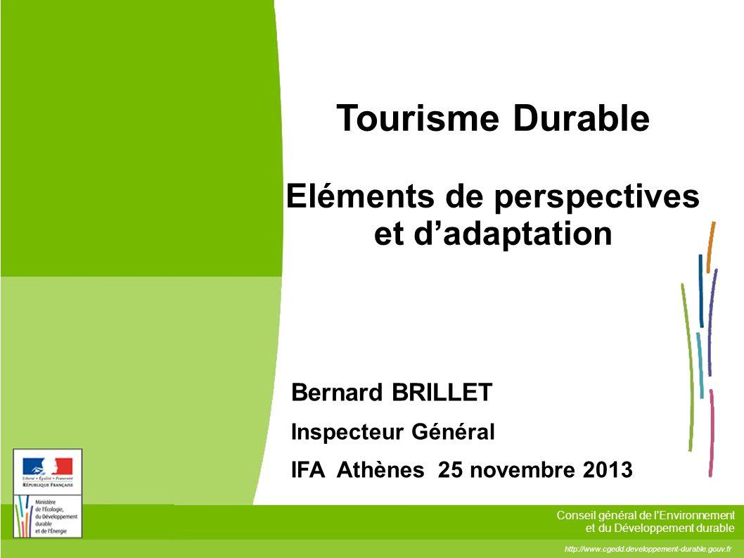 Tourisme Durable Eléments de perspectives et d'adaptation