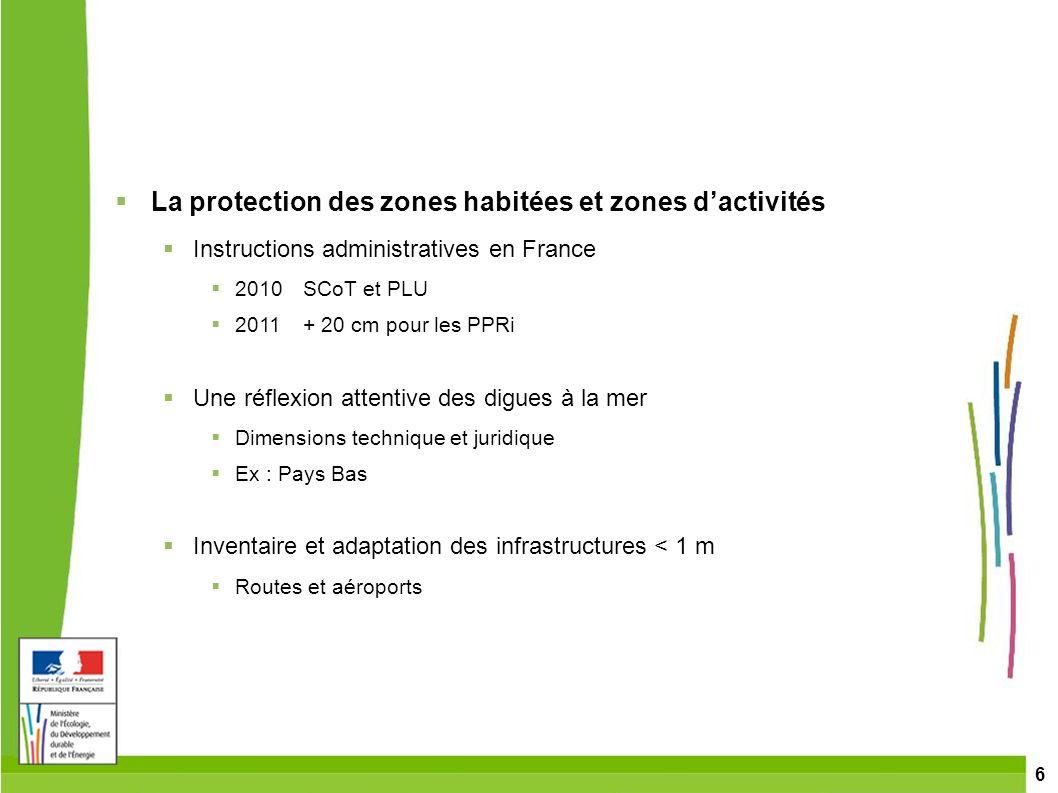La protection des zones habitées et zones d'activités