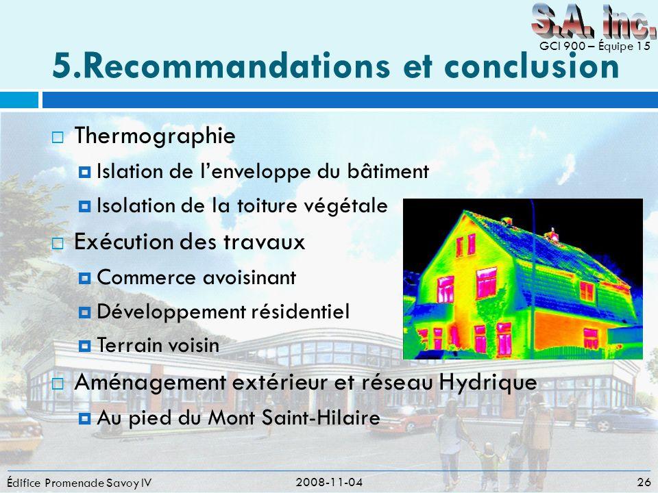 5.Recommandations et conclusion