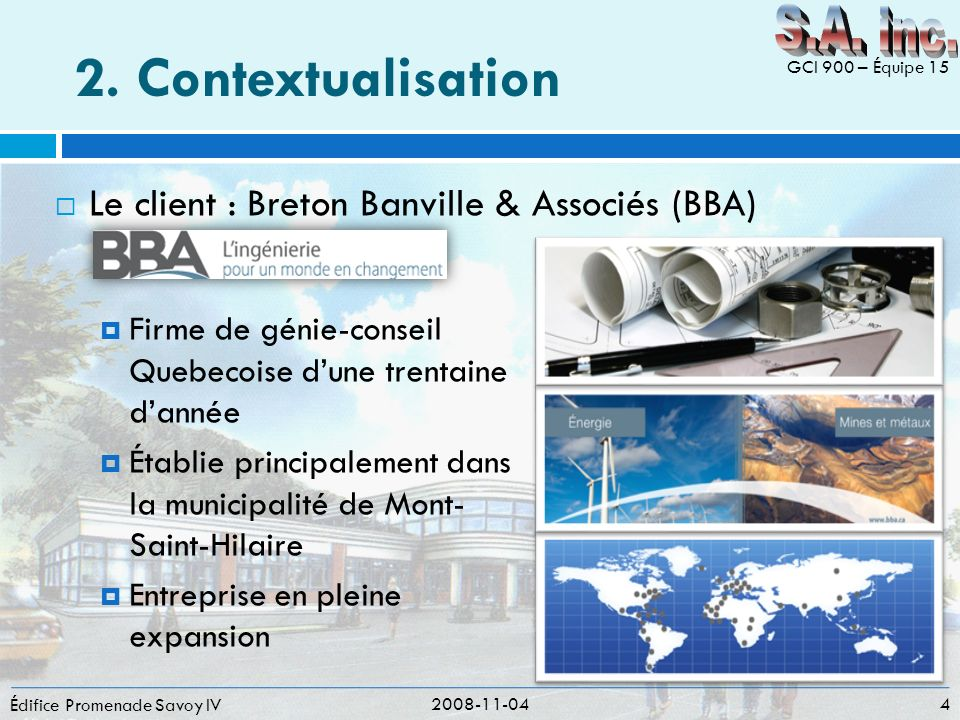 2. Contextualisation S.A. inc.