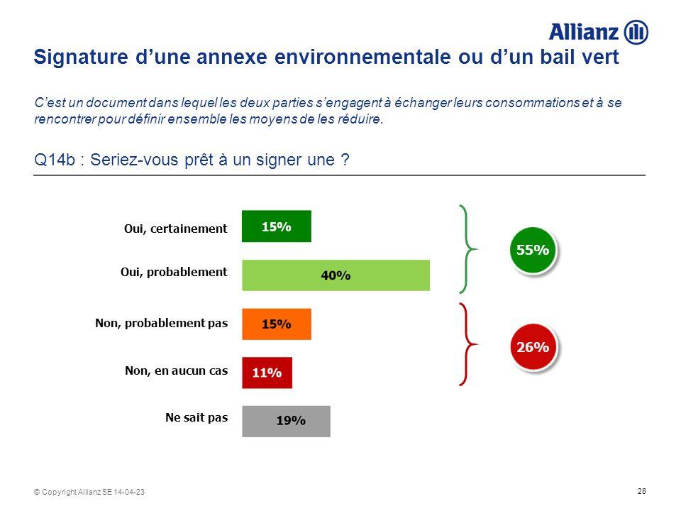 Signature d'une annexe environnementale ou d'un bail vert