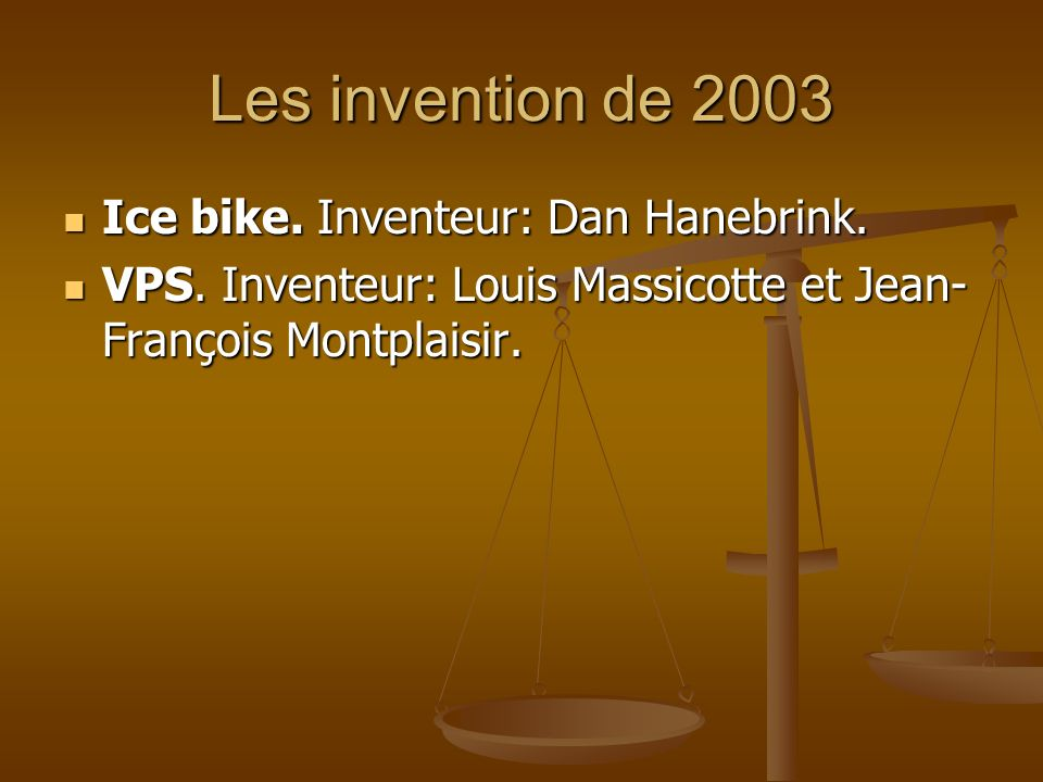 Les invention de 2003 Ice bike. Inventeur: Dan Hanebrink.