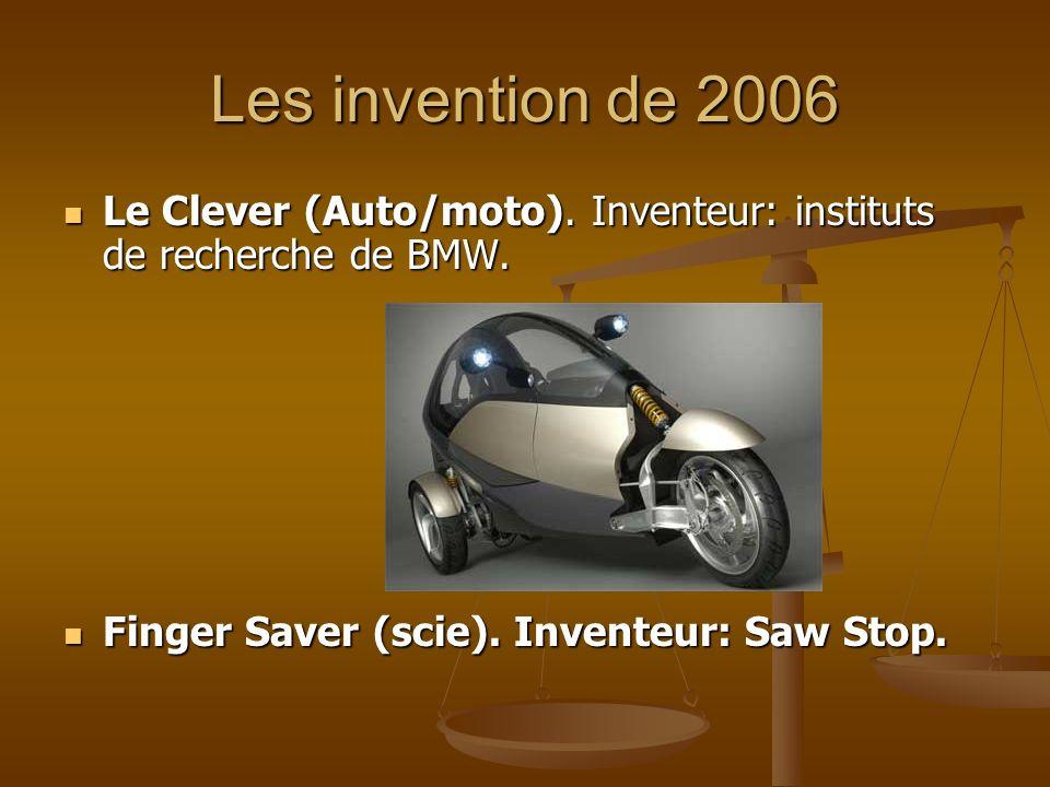 Les invention de 2006 Le Clever (Auto/moto). Inventeur: instituts de recherche de BMW.