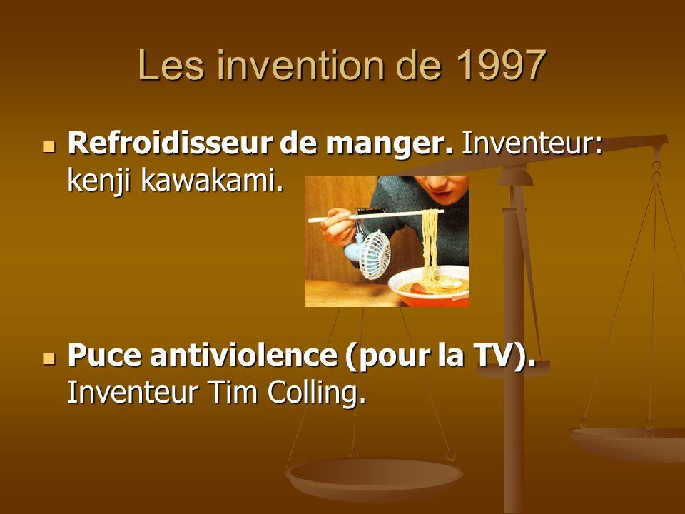 Les invention de 1997 Refroidisseur de manger. Inventeur: kenji kawakami.