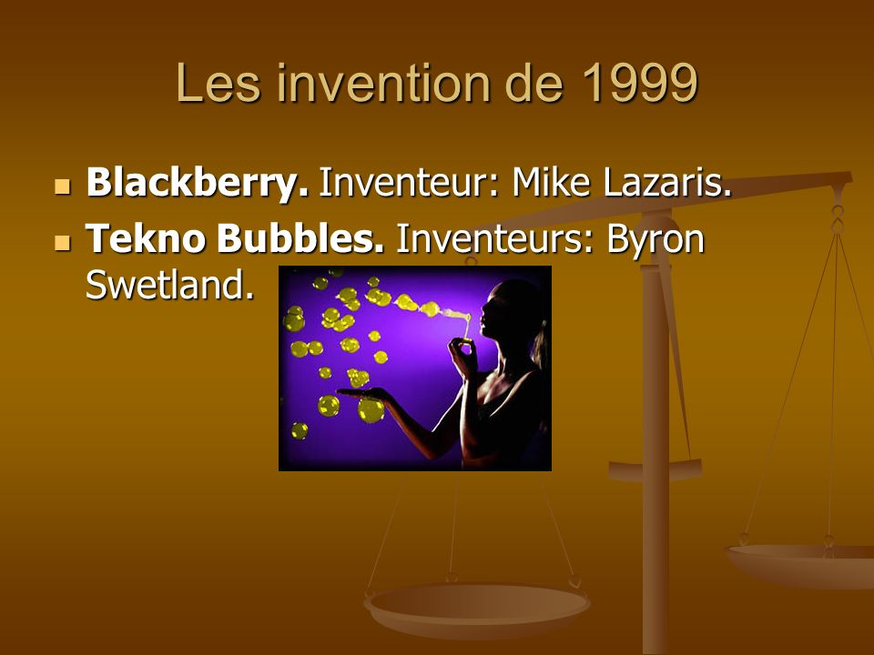 Les invention de 1999 Blackberry. Inventeur: Mike Lazaris.