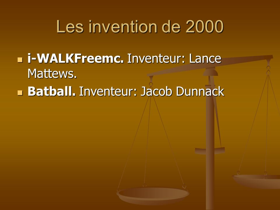Les invention de 2000 i-WALKFreemc. Inventeur: Lance Mattews.
