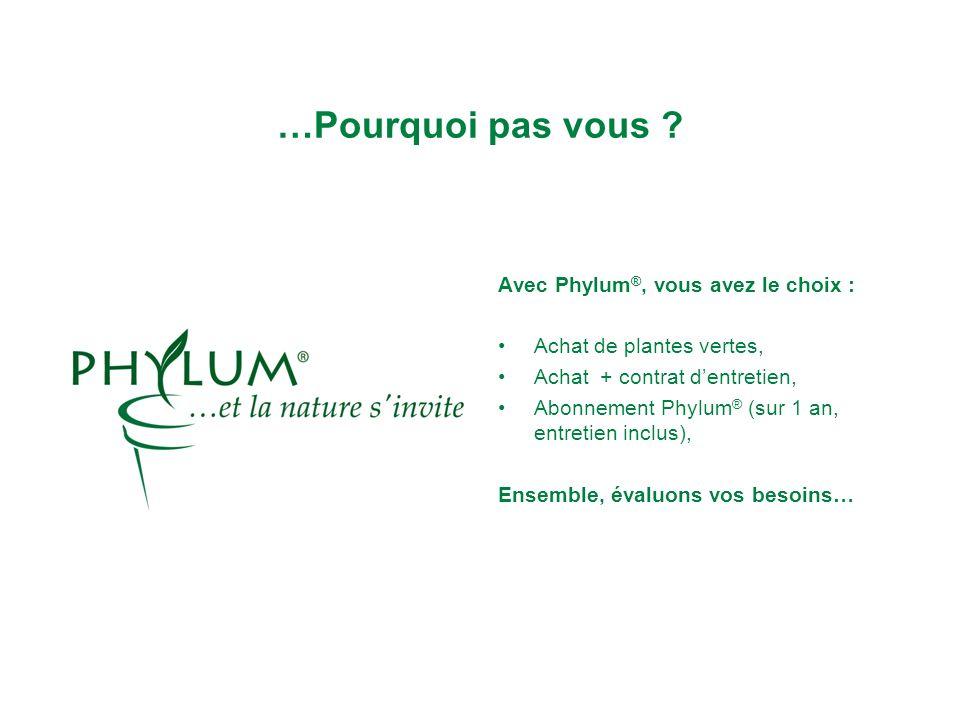 …Pourquoi pas vous Avec Phylum®, vous avez le choix :