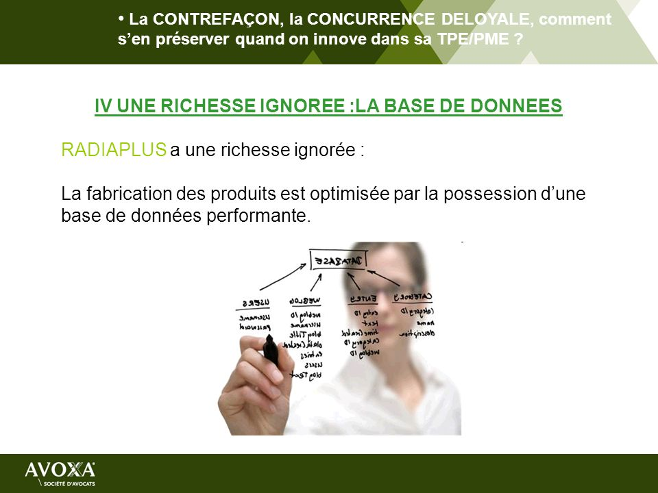 IV UNE RICHESSE IGNOREE :LA BASE DE DONNEES
