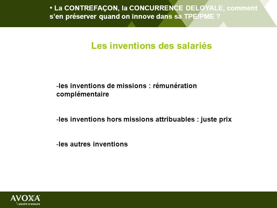 Les inventions des salariés