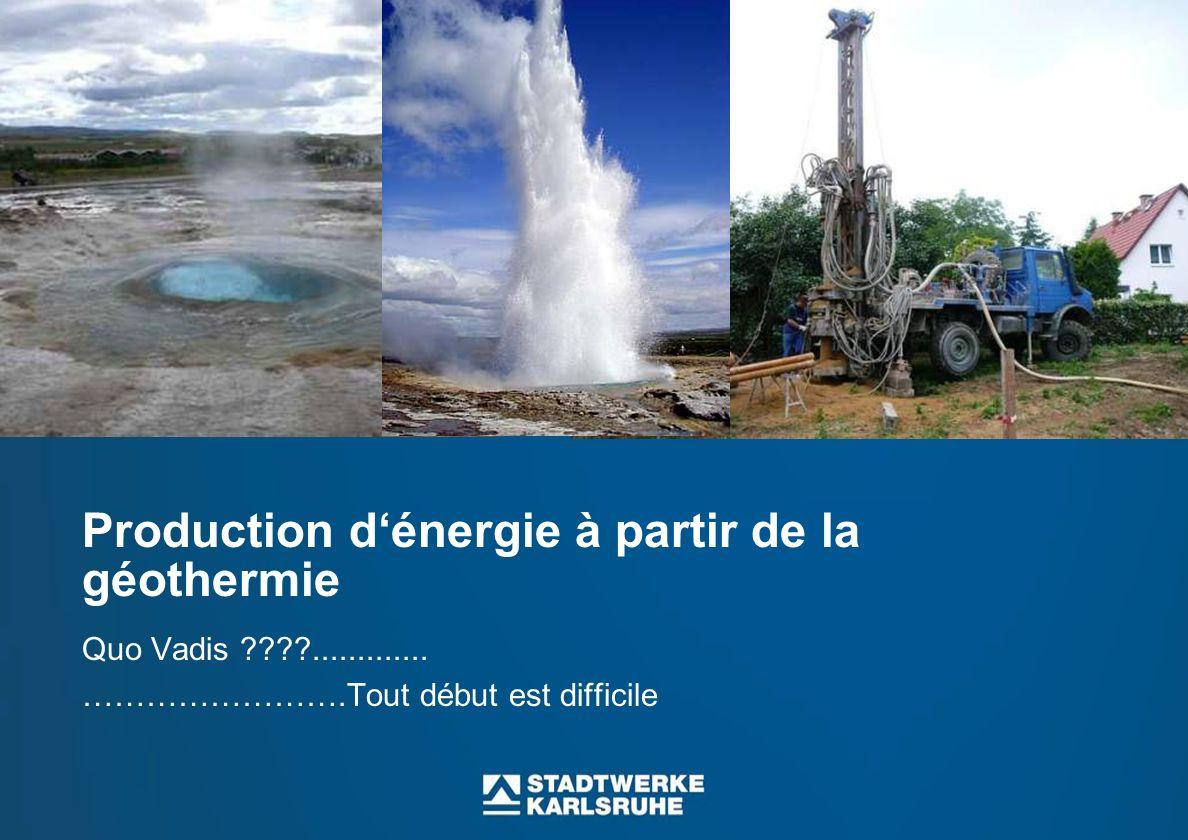 Production d'énergie à partir de la géothermie