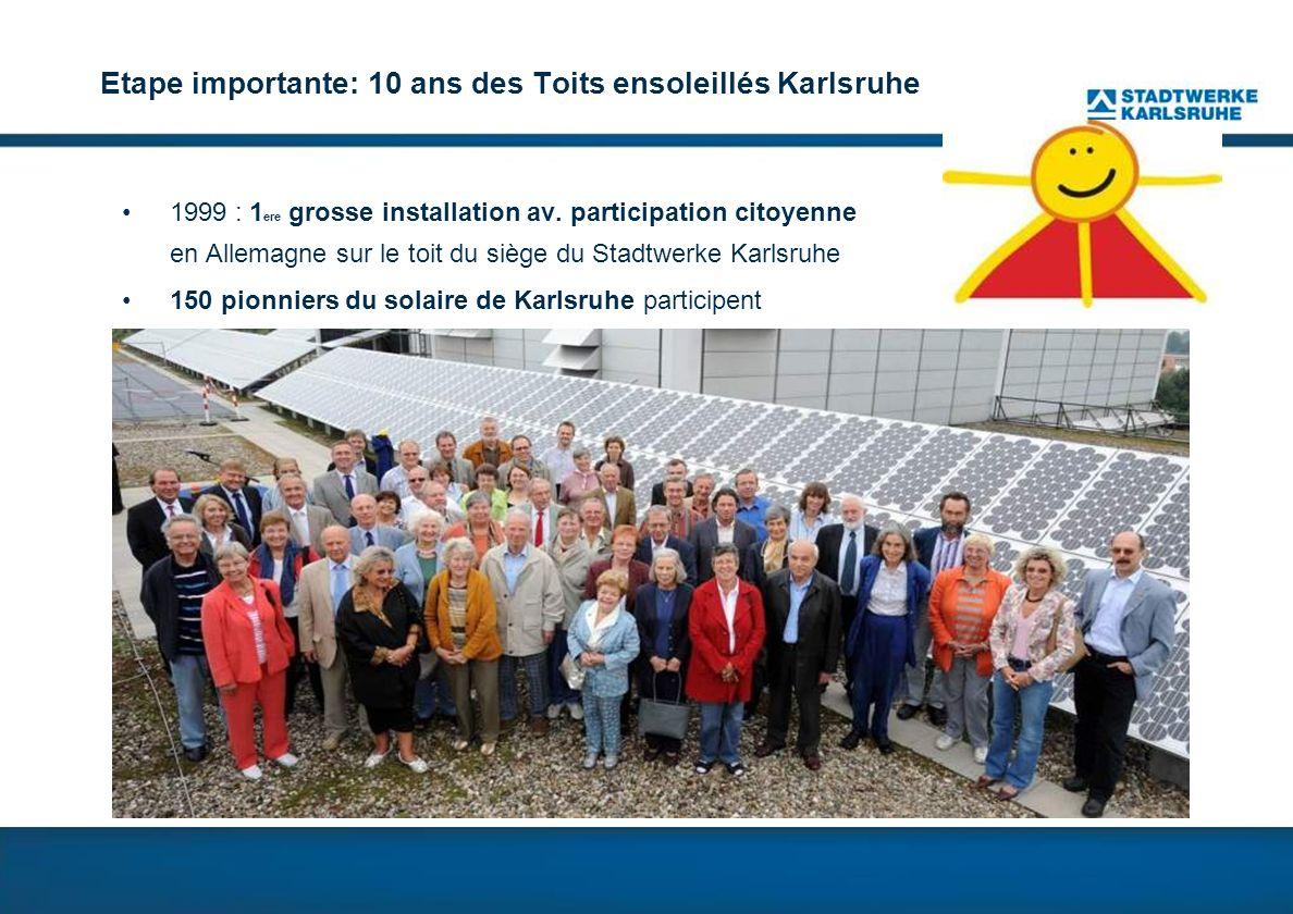 Etape importante: 10 ans des Toits ensoleillés Karlsruhe