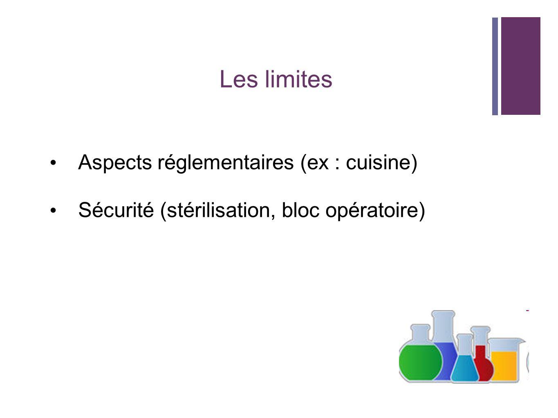 Les limites Aspects réglementaires (ex : cuisine)