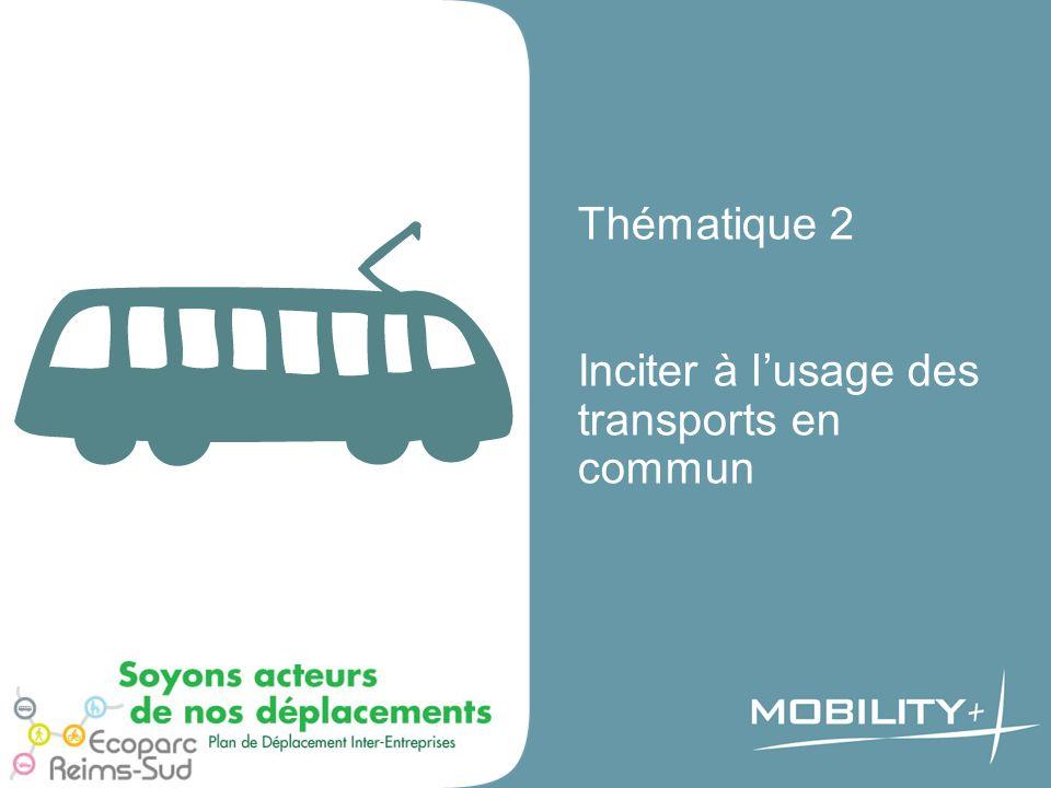Thématique 2 Inciter à l'usage des transports en commun