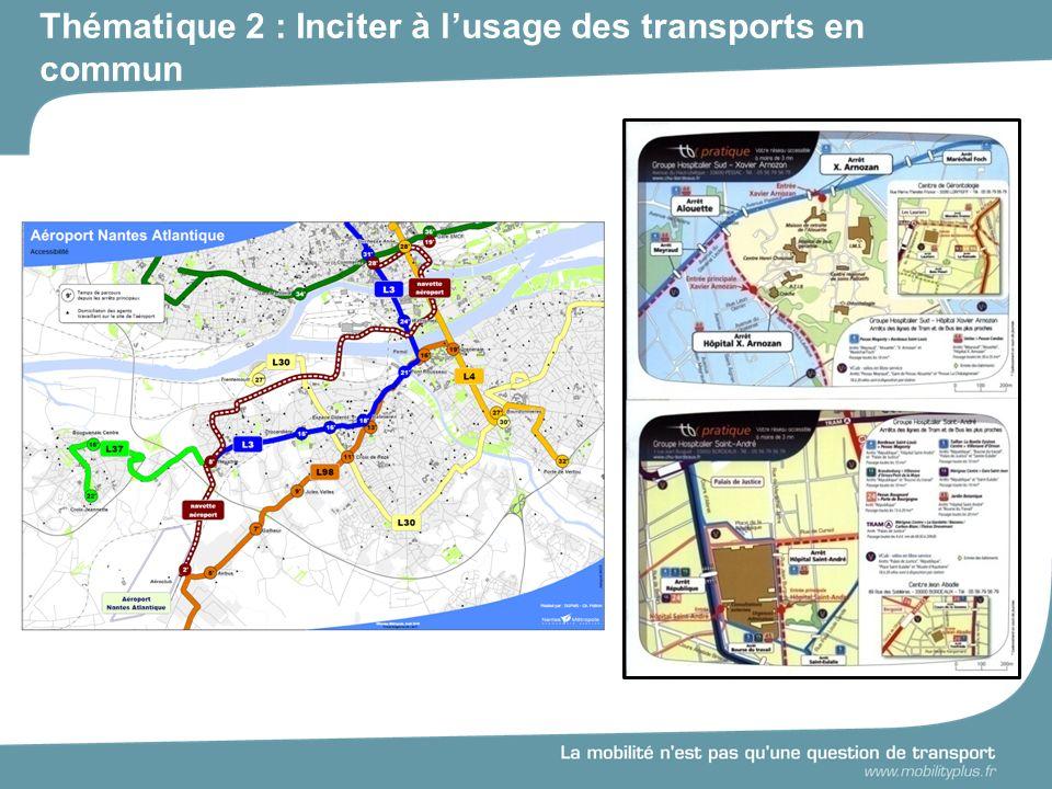 Thématique 2 : Inciter à l'usage des transports en commun