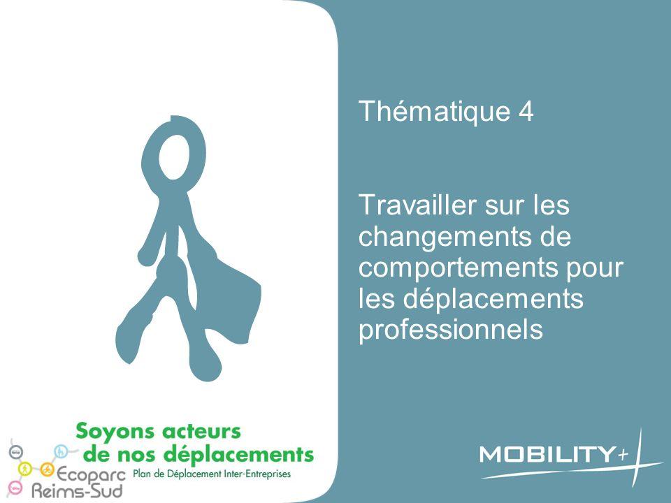 Thématique 4 Travailler sur les changements de comportements pour les déplacements professionnels
