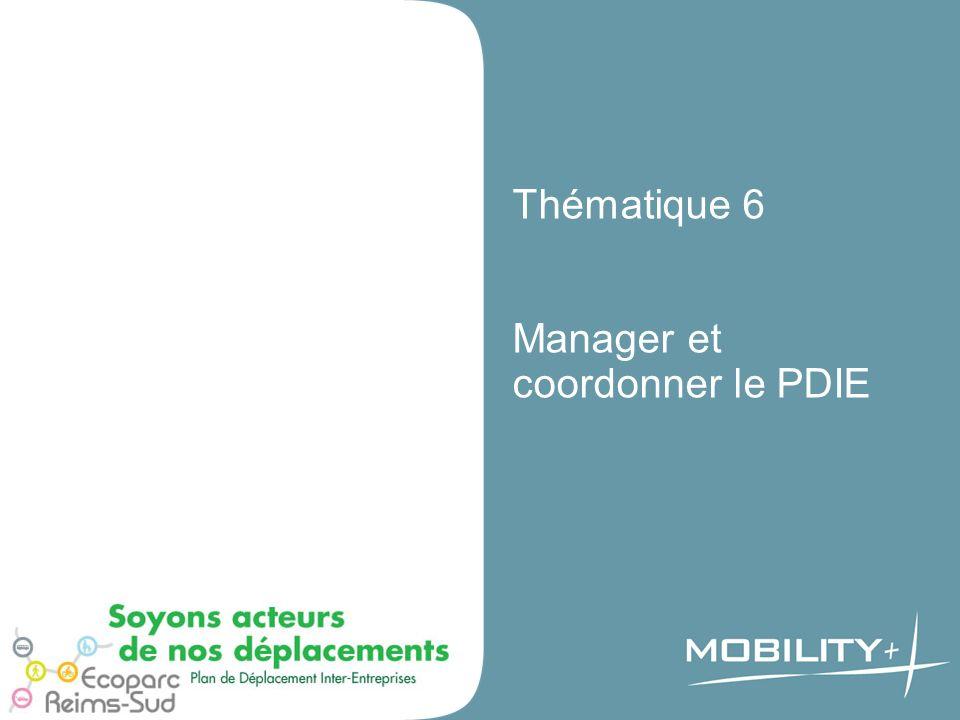 Thématique 6 Manager et coordonner le PDIE