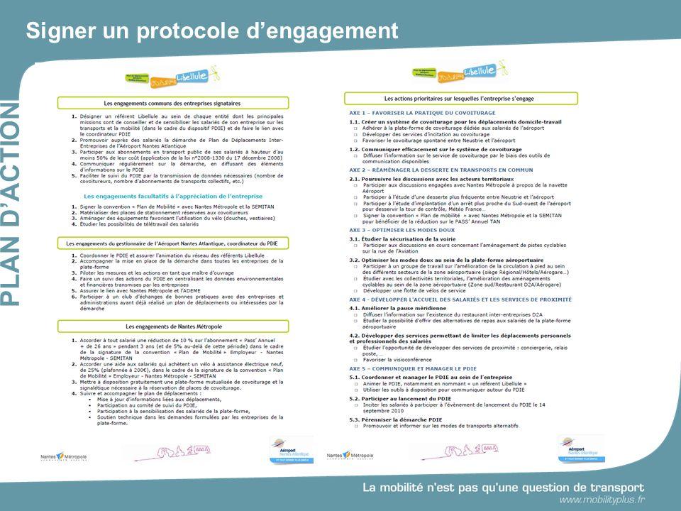 Signer un protocole d'engagement