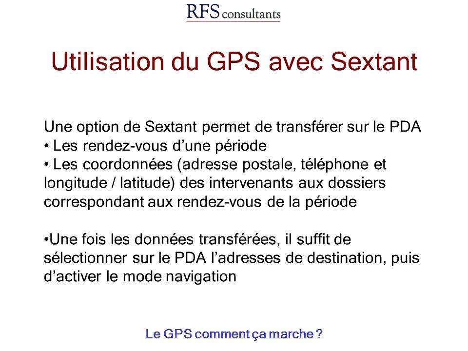 Utilisation du GPS avec Sextant