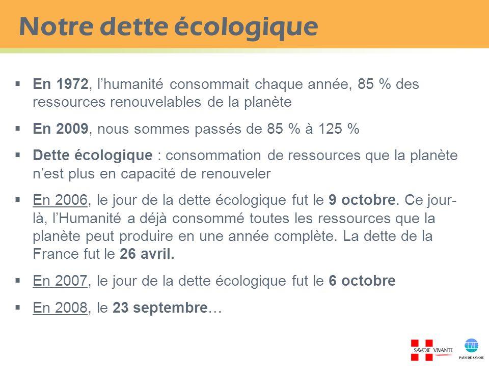 Notre dette écologique
