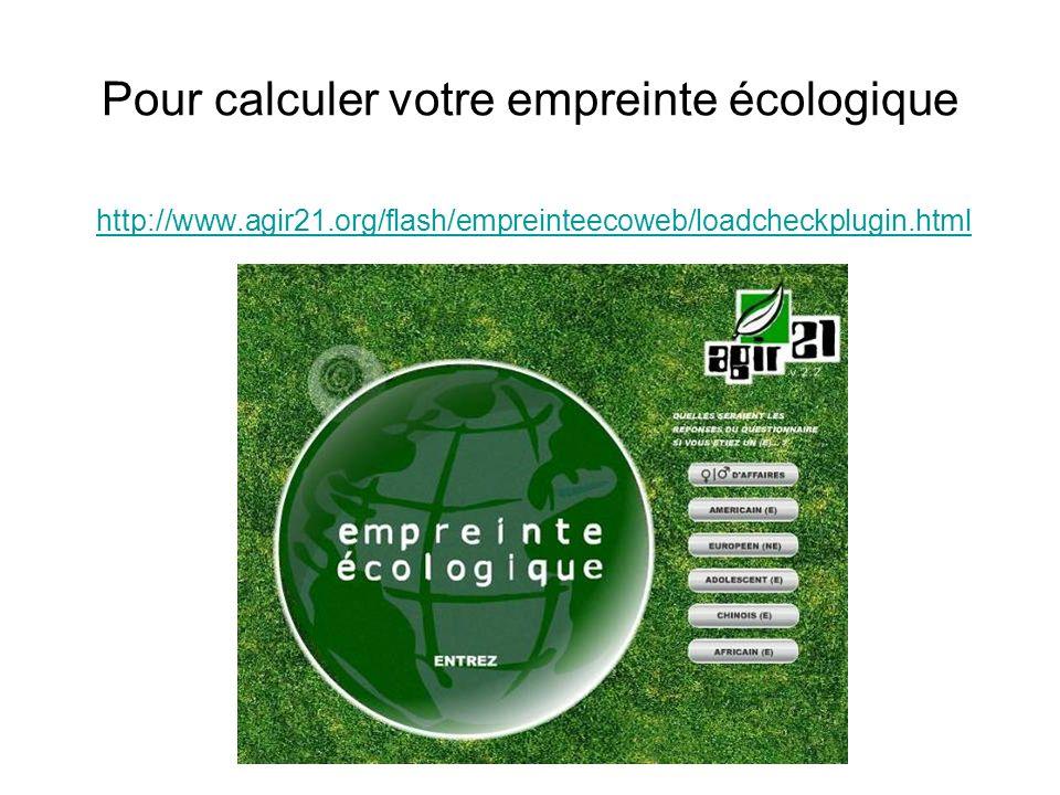 Pour calculer votre empreinte écologique