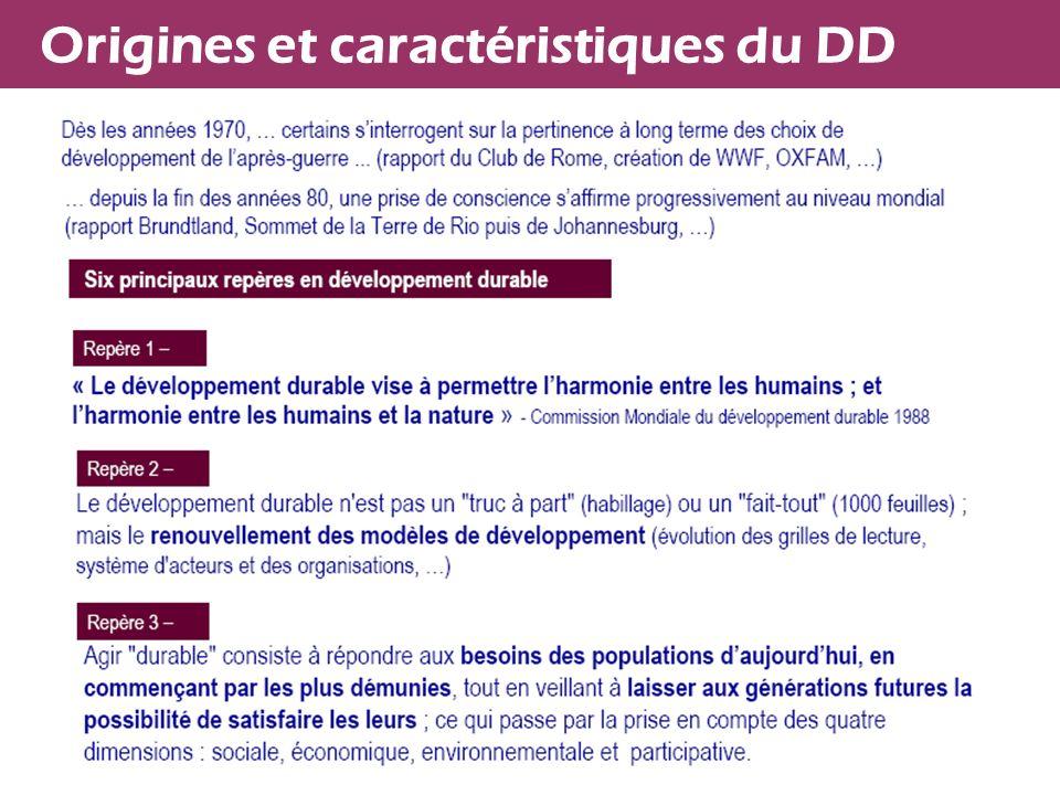 Origines et caractéristiques du DD