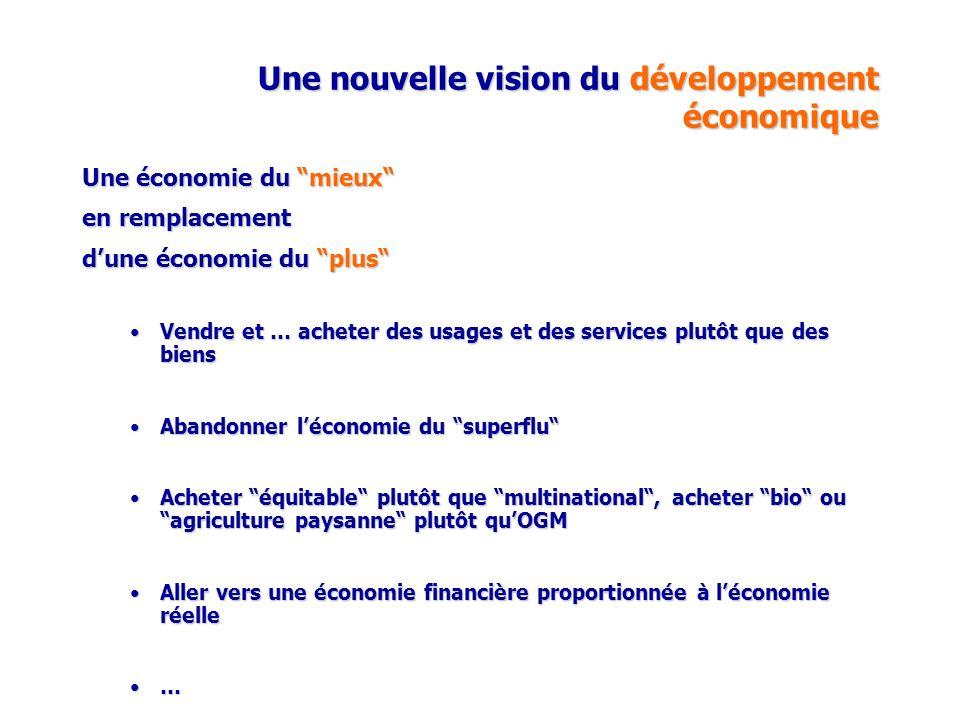 Une nouvelle vision du développement économique