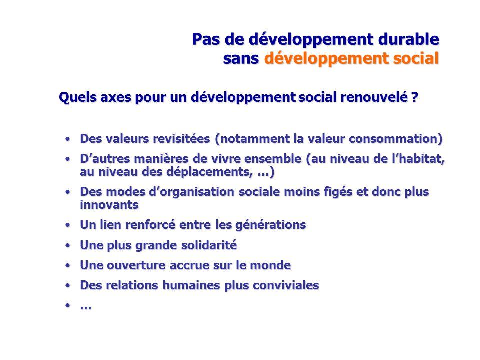 Pas de développement durable sans développement social