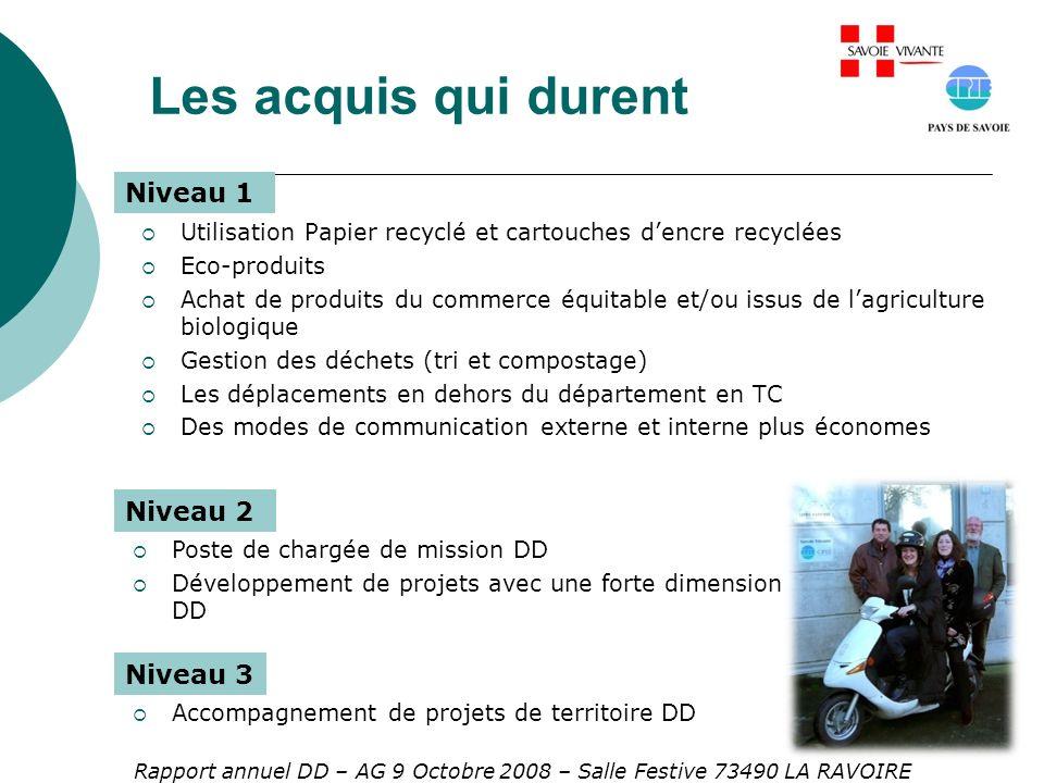 Rapport annuel DD – AG 9 Octobre 2008 – Salle Festive 73490 LA RAVOIRE