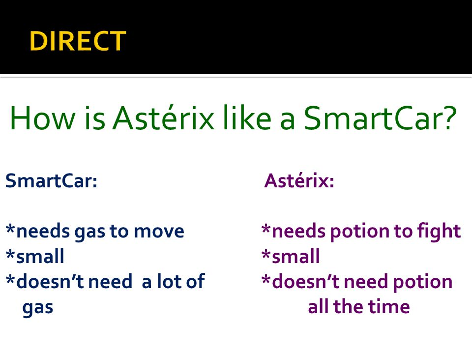 How is Astérix like a SmartCar
