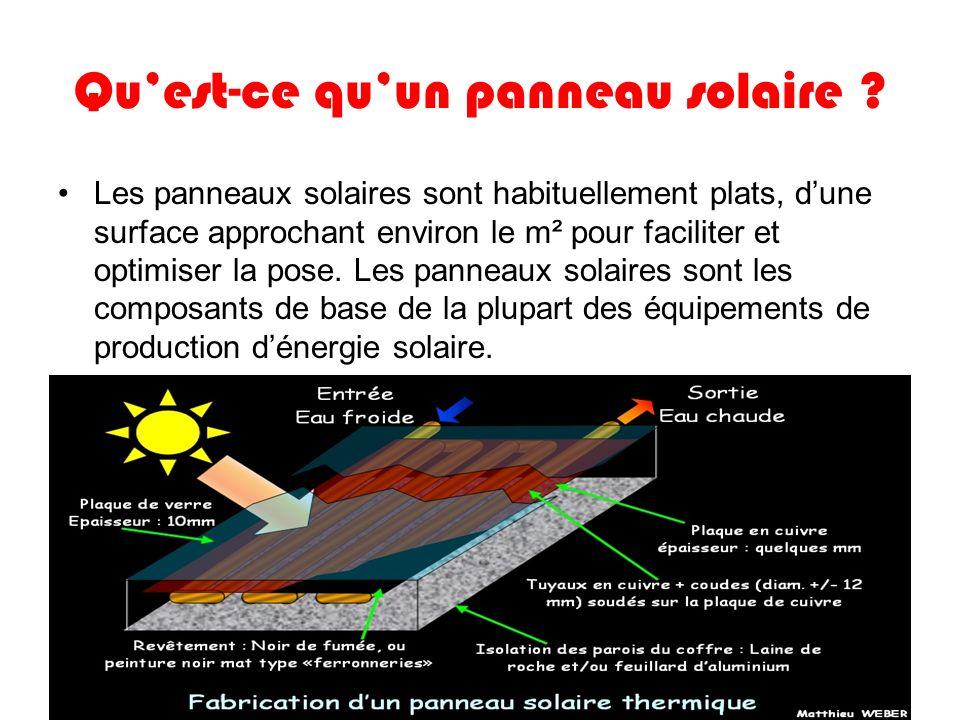 Qu'est-ce qu'un panneau solaire
