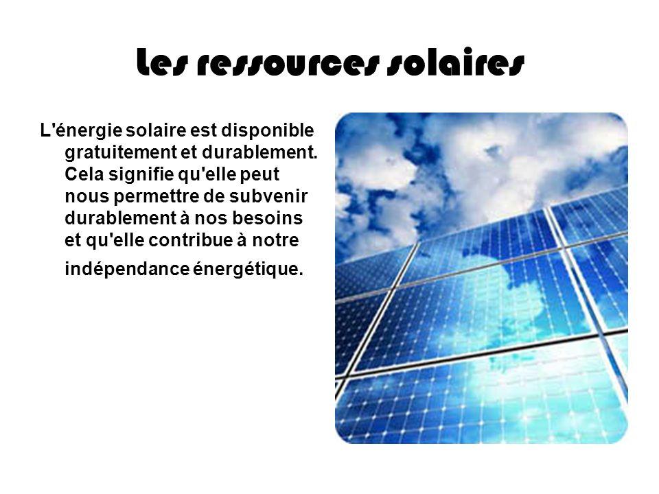 Les ressources solaires