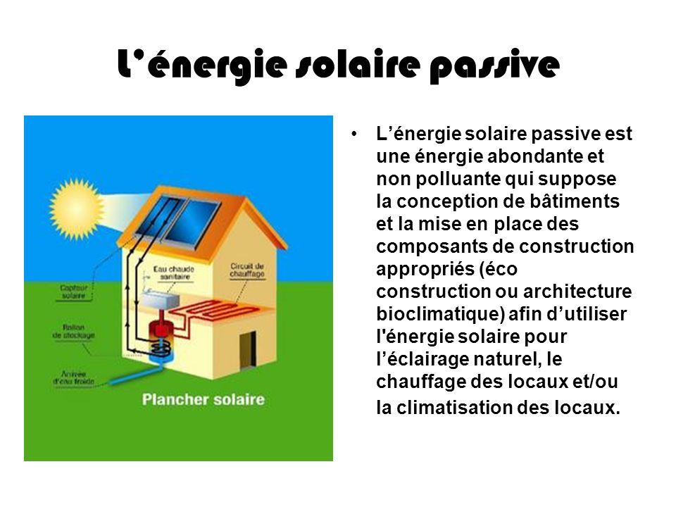L'énergie solaire passive