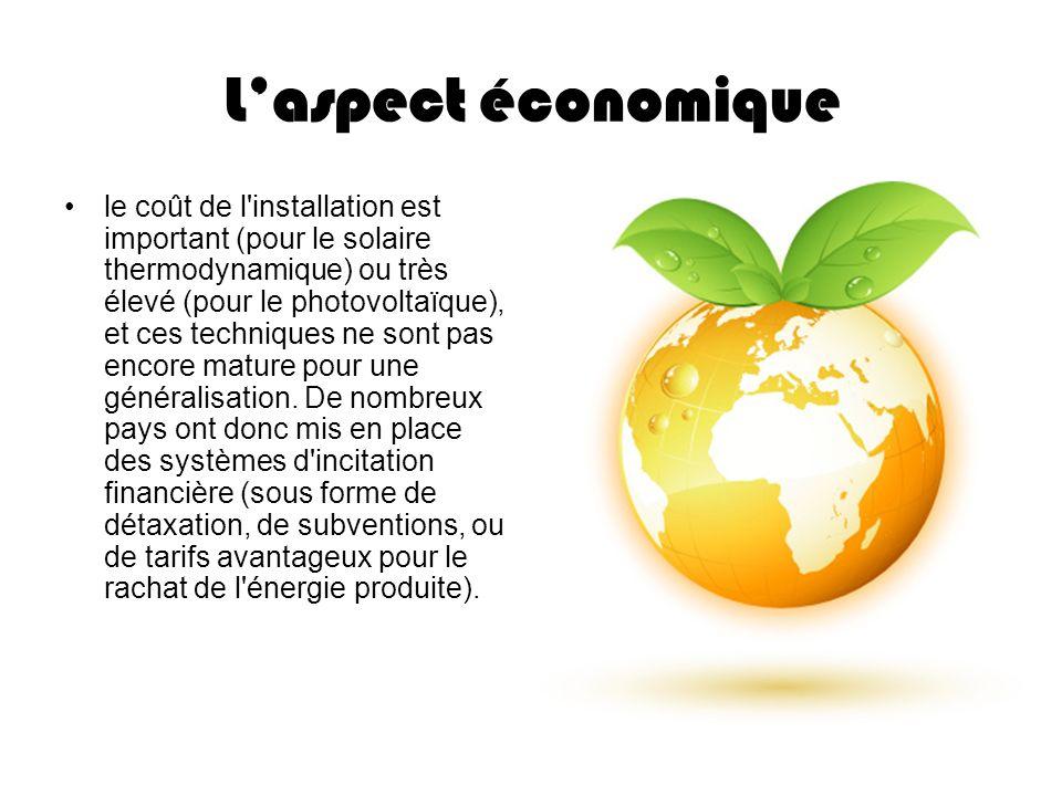 L'aspect économique