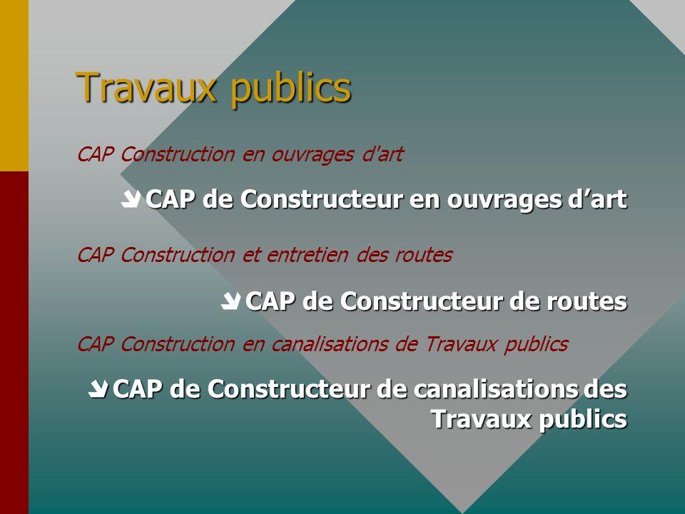 Travaux publics  CAP de Constructeur en ouvrages d'art