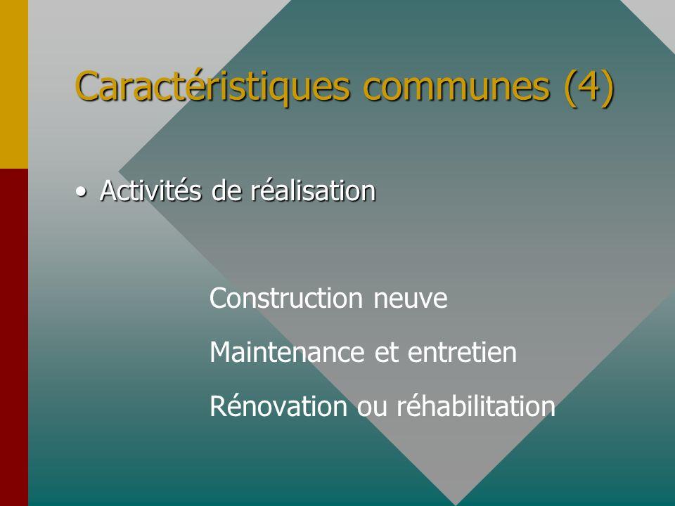 Caractéristiques communes (4)