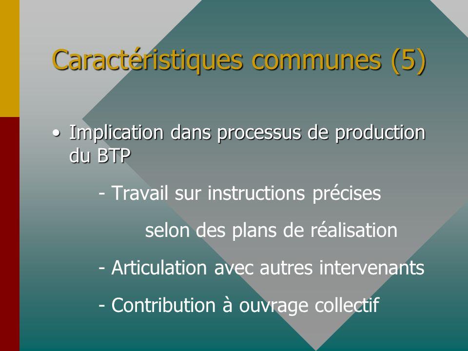 Caractéristiques communes (5)