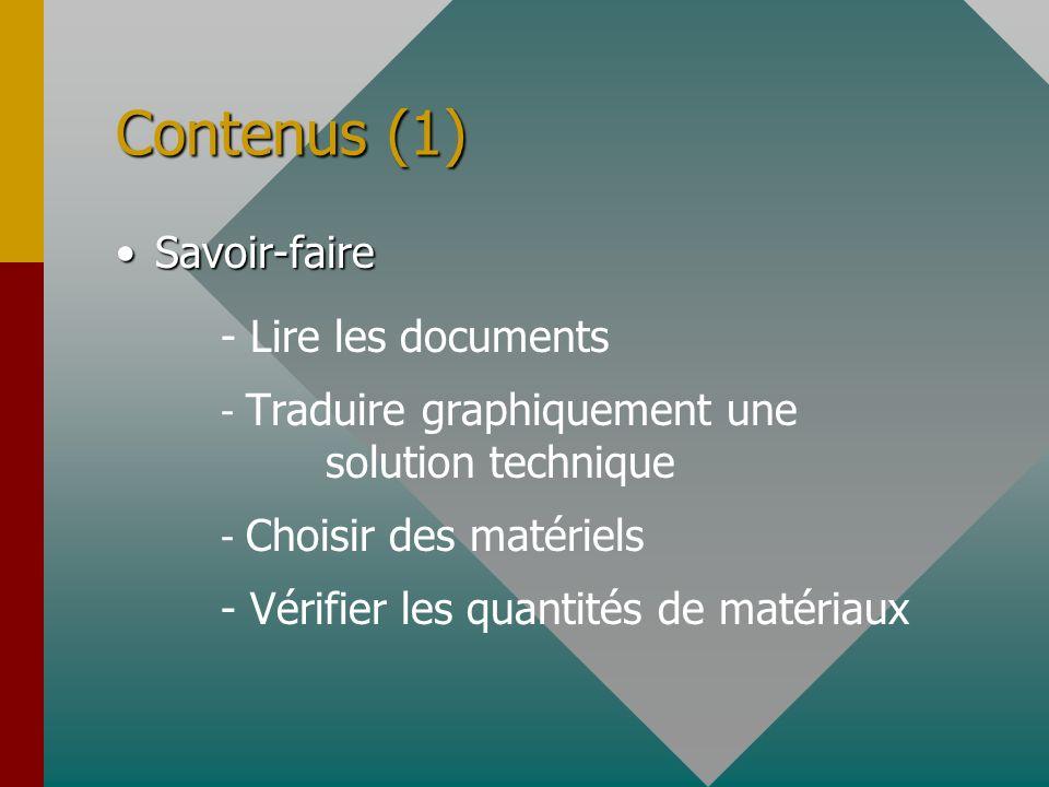 Contenus (1) Savoir-faire - Lire les documents