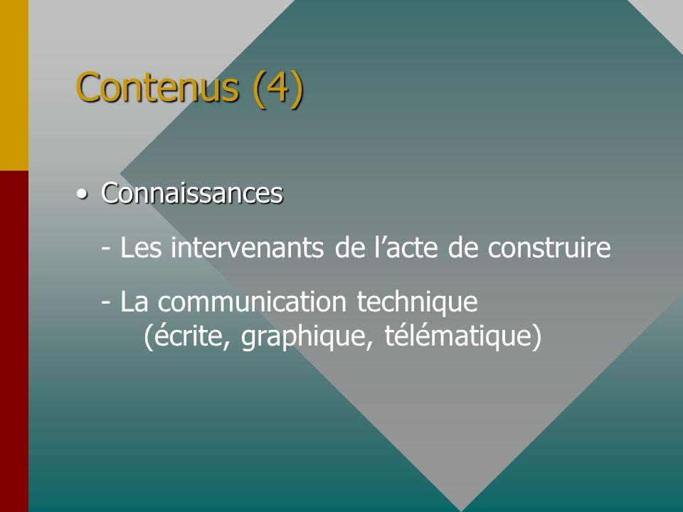 Contenus (4) Connaissances - Les intervenants de l'acte de construire