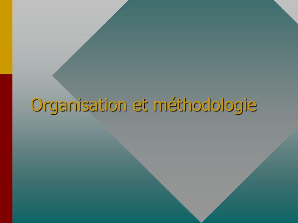 Organisation et méthodologie