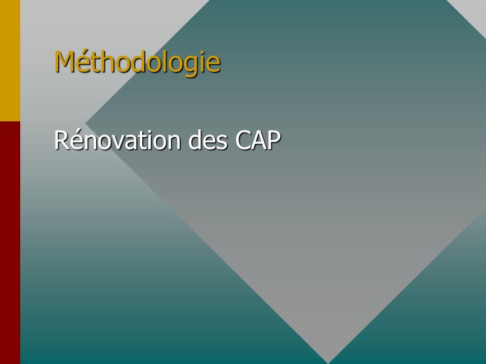 Méthodologie Rénovation des CAP